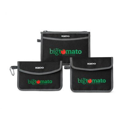 Black Igloo® Insulated 3 Piece Pouch Set