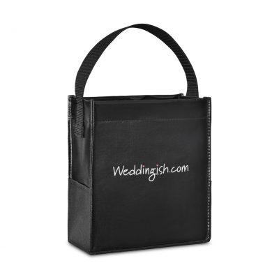 Black Kali Coated Cotton Mini Tote Bag