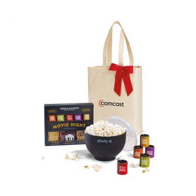 Black Movie Night Gourmet Popcorn Gift Set