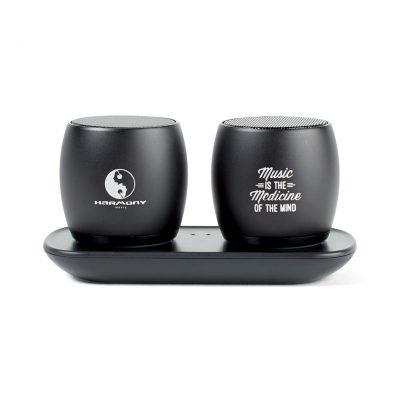 Black Paxton Bluetooth® Pairing Speakers