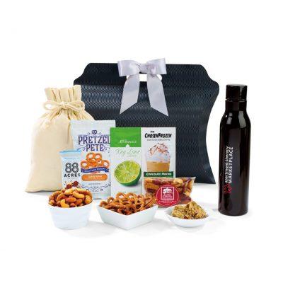 Black Sidney Sip & Snack Gift Tote Bag
