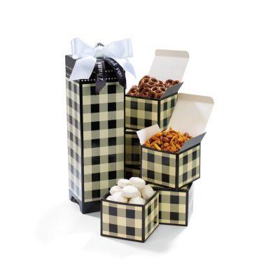 Black/Cream Beige Many Thanks Gourmet Keepsake Box