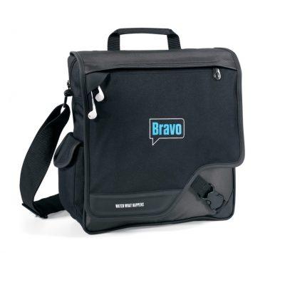 Black/Gray Satellite Vertical Messenger Bag