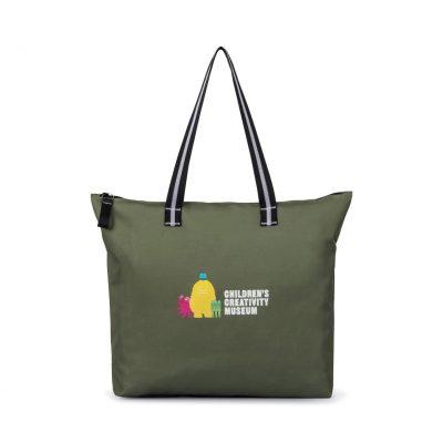 Deep Forest Green Main Street Jumbo Tote Bag