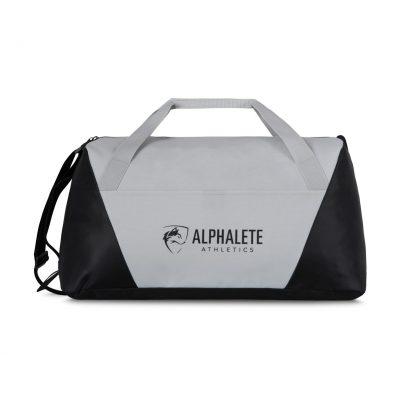 Glacier Gray Geometric Sport Bag