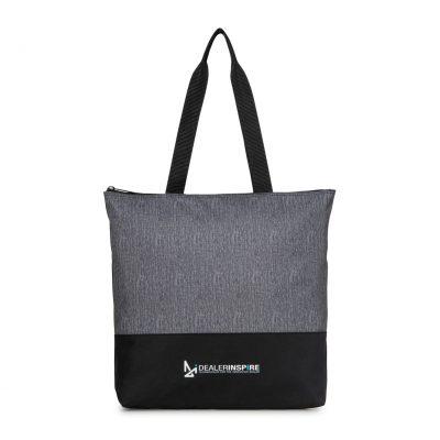 Granite Heather Gray/Black Tribeca Tote Bag