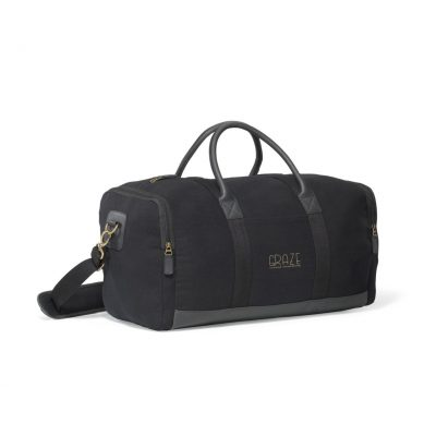 Heritage Supply Ridge Cotton Duffel - Black