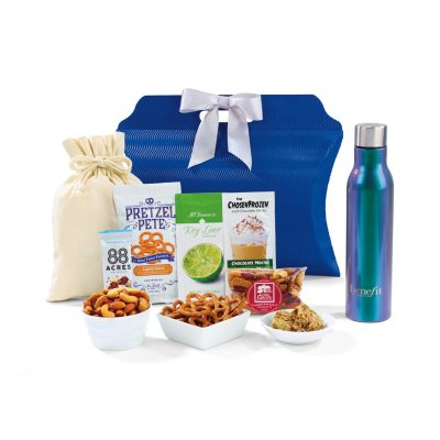 Iridescent Silver Sidney Sip & Snack Gift Tote Bag