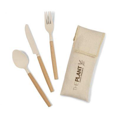 Natural Gaia Bamboo Fiber Cutlery Set