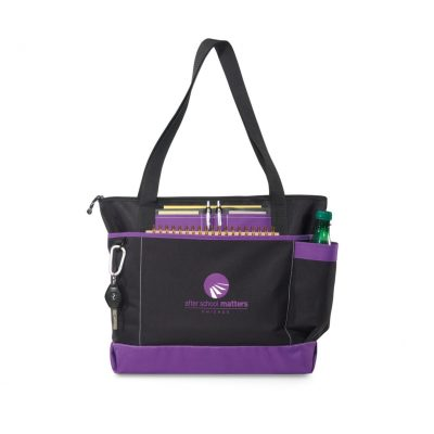 Purple/Black Avenue Business Tote Bag