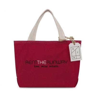 Red Cameron Cotton Mini Tote Bag