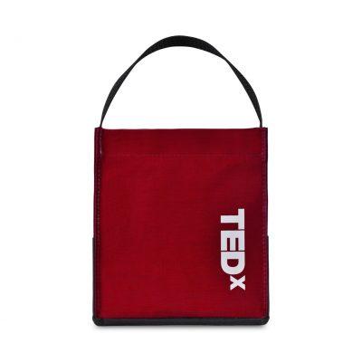 Red Kali Coated Cotton Mini Tote Bag