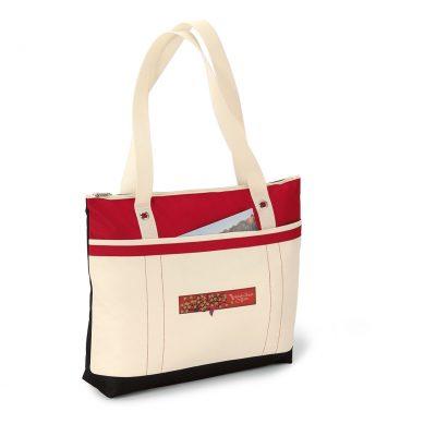 Red/Natural Windjammer Tote Bag