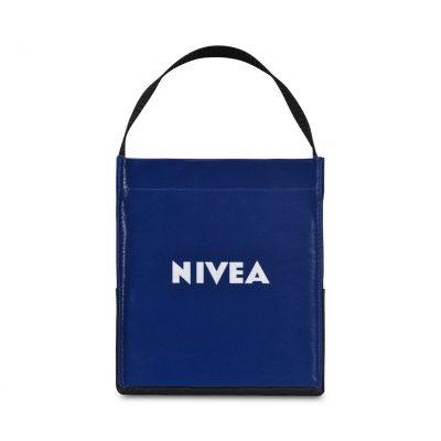 Royal Blue Kali Coated Cotton Mini Tote Bag