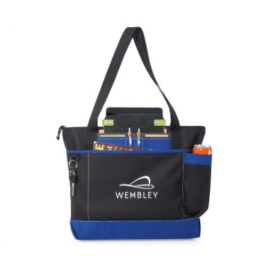 Royal Blue/Black Avenue Business Tote Bag