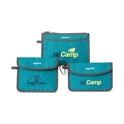 Teal Blue Igloo® Insulated 3 Piece Pouch Set