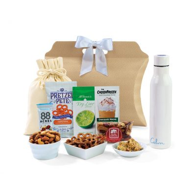 White Sidney Sip & Snack Gift Tote