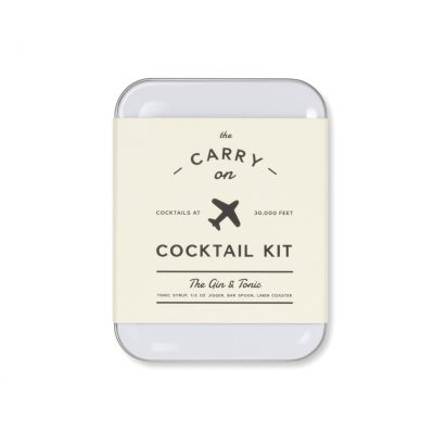 White W&P Gin & Tonic Carry On Cocktail Kit