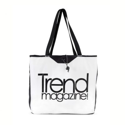 White/Black Express Packable Tote Bag