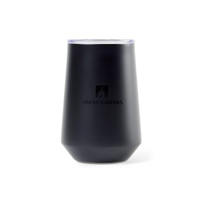 Aviana™ Clover Double Wall Stainless Wine Tumbler - 12 Oz. - Matte Black