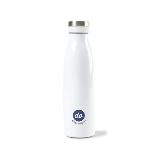 Aviana™ Palmer Double Wall Stainless Bottle - 17 Oz. - White Opaque Gloss