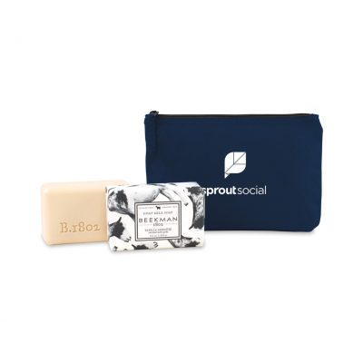 Beekman 1802 Farm to Skin Bar Soap Gift Set - Navy Blue-Vanilla Absolute