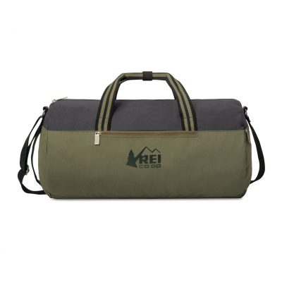 Charlie Cotton Barrel Duffel - Deep Forest Green