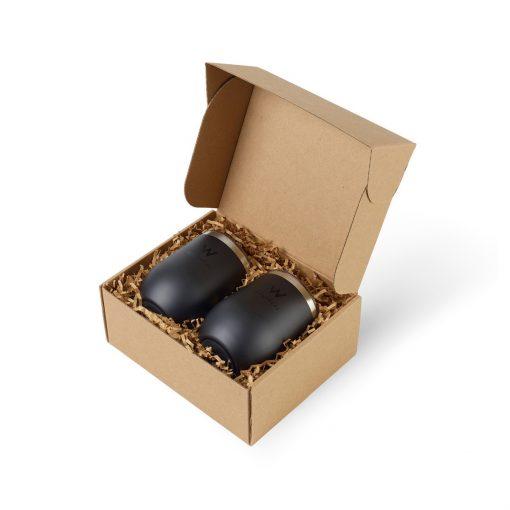 Corkcicle® Stemless Wine Cup Gift Set - Matte Black