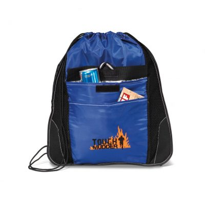 Elite Sport Cinchpack with Insulated Pocket - Royal Blue