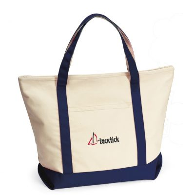 Harbor Cruise Boat Tote - Navy Blue