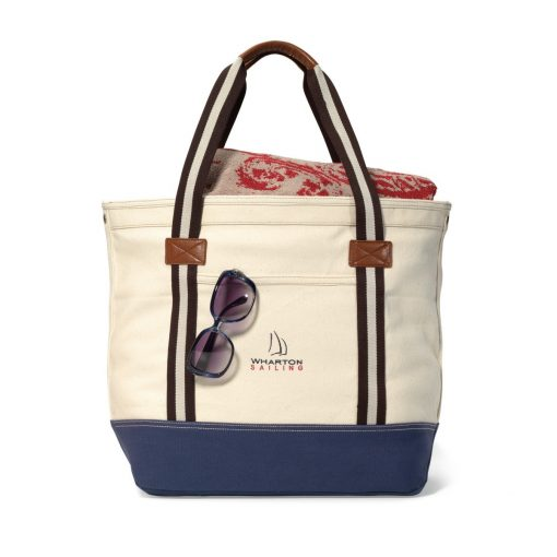Heritage Supply Catalina Cotton Tote - Natural-Navy