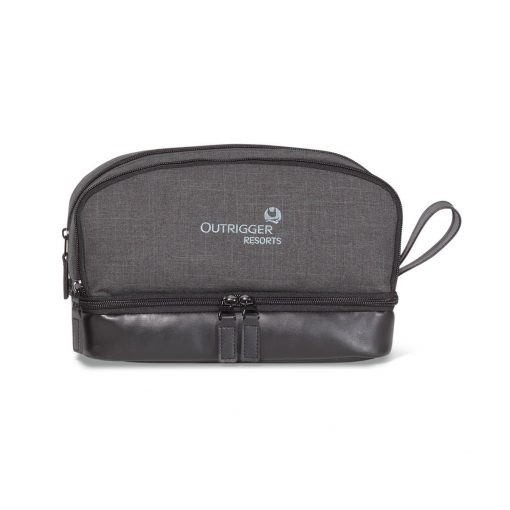 Heritage Supply Tanner Amenity Case - Charcoal Heather-Black