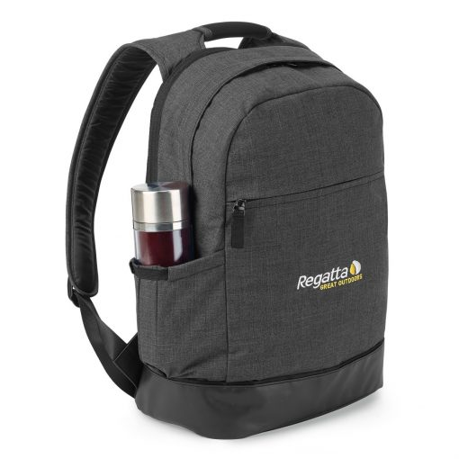 Heritage Supply Tanner Computer Backpack - Charcoal Heather-Black