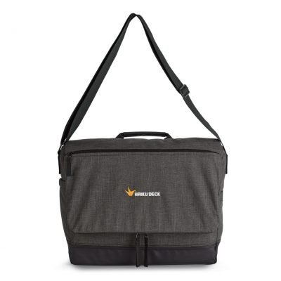 Heritage Supply Tanner Computer Messenger Bag - Charcoal Heather-Black