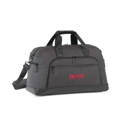 Heritage Supply Tanner Travel Duffel - Charcoal Heather-Black