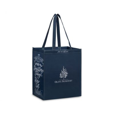 Laminated 100% Recycled Shopper - Navy Blue