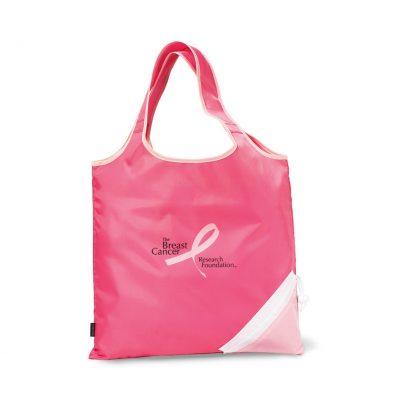 Latitudes Foldaway Shopper - Peony Pink-Deep Pink