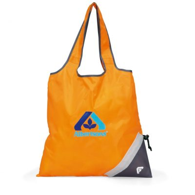 Latitudes Foldaway Shopper - Tangerine Orange