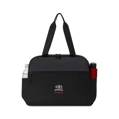Life In Motion® All Day Computer Tote - Black-Charcoal Heather