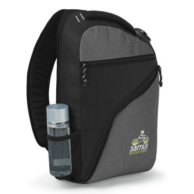 McKinley Computer Sling Bag - Black-Heather Grey