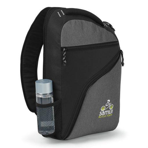 McKinley Computer Sling Bag - Black-Heather Grey