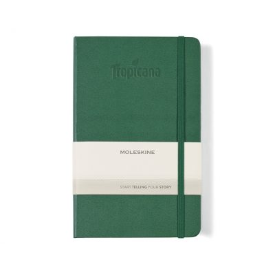 Moleskine® Hard Cover Ruled Large Notebook - Myrtle Green
