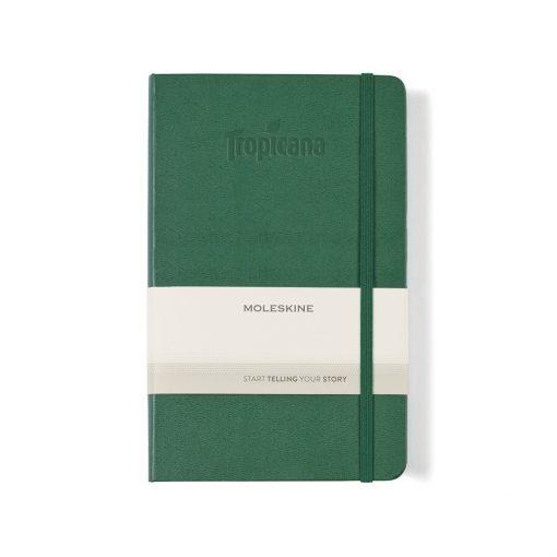 Moleskine® Hard Cover Ruled Large Notebook - Myrtle Green