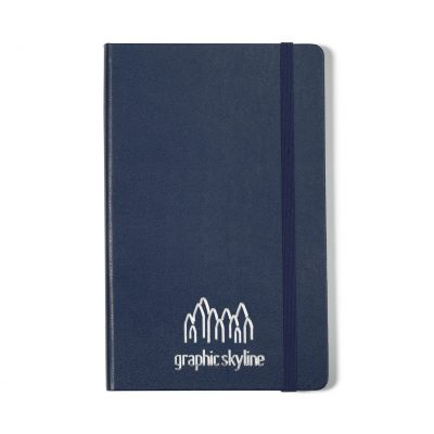 Moleskine® Hard Cover Ruled Large Notebook - Navy Blue