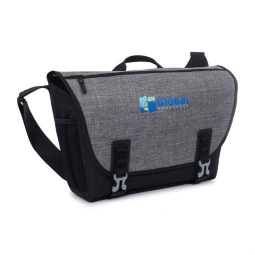 Nova Computer Messenger Bag - Black-Charcoal Heather