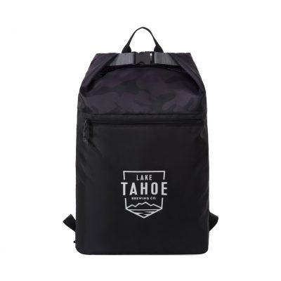 Rainier Roll Top Backpack - Black-Urban Camo Pattern
