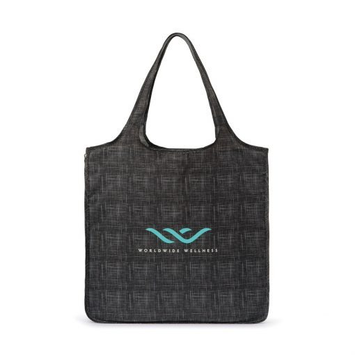 Riley Medium Patterned Tote - Charcoal Heather