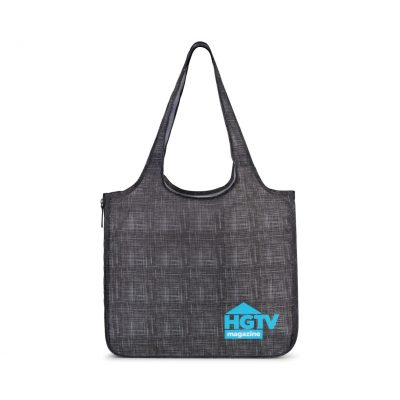 Riley Petite Patterned Tote - Charcoal Heather