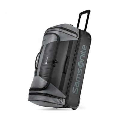 "Samsonite Andante 2 28"" Drop Bottom Wheeled Duffel - Riverrock-Black"
