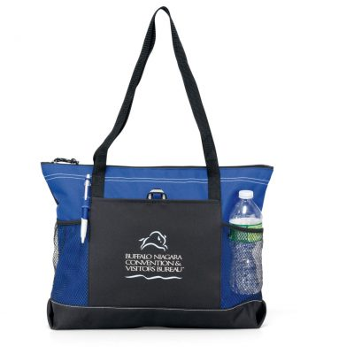Select Zippered Tote - Royal Blue